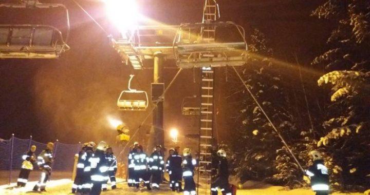 Ćwiczenia ewakuacyjne stacja narciarska Wierchomla
